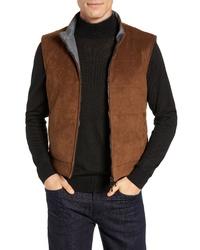 Chaleco de abrigo de ante marrón
