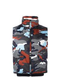 Chaleco de abrigo de camuflaje en multicolor