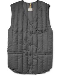Chaleco de abrigo de lana acolchado en gris oscuro de Rocky Mountain Featherbed