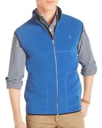 Chaleco de abrigo de lana azul