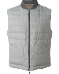 Chaleco de abrigo de lana gris