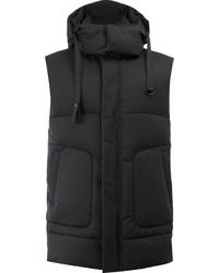 Chaleco de abrigo de lana negro de Juun.J