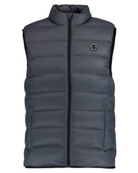 Chaleco de abrigo en gris oscuro de Abercrombie & Fitch