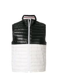 Chaleco de abrigo en negro y blanco de Thom Browne