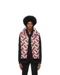 Chaleco de abrigo estampado en multicolor de Burberry