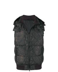 Chaleco de abrigo estampado negro de Etro