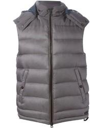 Chaleco de abrigo gris de Burberry