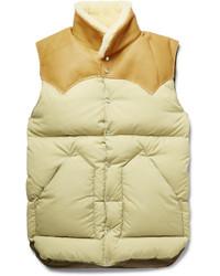 Chaleco de abrigo marrón claro