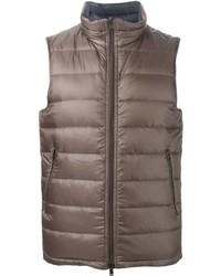 Chaleco de abrigo marrón