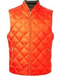 Chaleco de abrigo naranja de Alexander McQueen