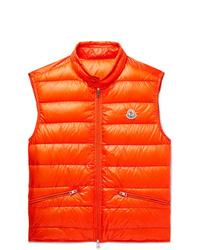 Chaleco de abrigo naranja de Moncler