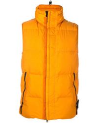 Chaleco de abrigo naranja de Stone Island