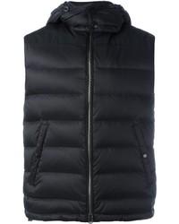 Chaleco de abrigo negro de Burberry