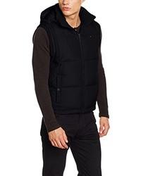 Chaleco de abrigo negro de Hilfiger Denim