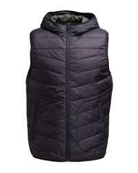 Chaleco de abrigo negro de Jack & Jones