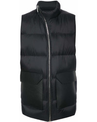 Chaleco de abrigo negro de Rick Owens