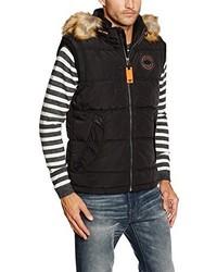 Chaleco de abrigo negro de Tom Tailor