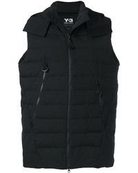 Chaleco de abrigo negro de Y-3