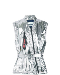 Chaleco de abrigo plateado de Off-White