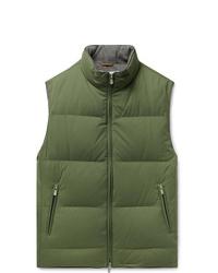Chaleco de abrigo verde oliva de Brunello Cucinelli