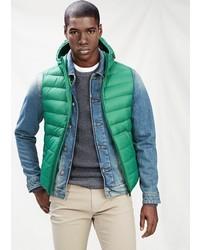 Chaleco de abrigo verde