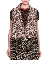 Chaleco de Pelo de Leopardo Marrón Claro de Stella McCartney
