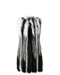 Chaleco de pelo en blanco y negro de Liska