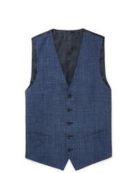 Chaleco de vestir a cuadros azul marino de Thom Sweeney