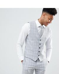 Chaleco de vestir a cuadros gris de Selected Homme