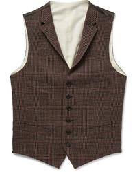 Chaleco de vestir a cuadros marrón de Polo Ralph Lauren
