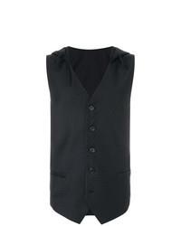 Chaleco de vestir a lunares negro