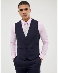 Chaleco de vestir azul marino de Burton Menswear