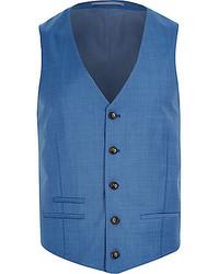 Chaleco de vestir azul