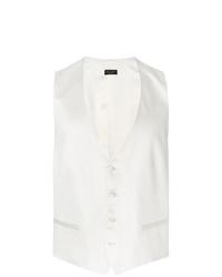 Chaleco de vestir blanco de Dell'oglio