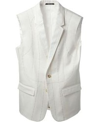 Chaleco de vestir blanco de Maison Margiela
