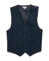 Chaleco de vestir de algodón azul marino