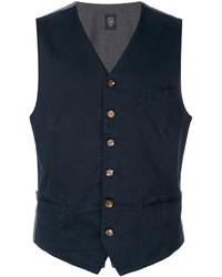 Chaleco de Vestir de Algodón Azul Marino de Eleventy