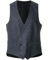 Chaleco de vestir de algodón azul marino de Lardini
