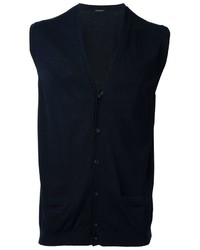 Chaleco de Vestir de Algodón Azul Marino de Roberto Collina