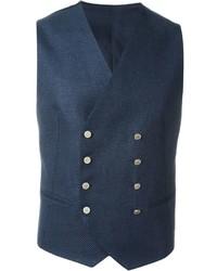 Chaleco de vestir de algodón azul marino de Tagliatore