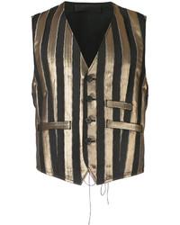 Chaleco de vestir de algodón de rayas verticales dorado de Haider Ackermann a5df586400d0