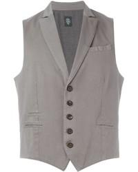 Chaleco de vestir de algodón gris