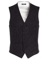 Chaleco de Vestir de Espiguilla Gris Oscuro de Ralph Lauren