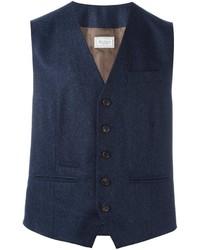 Chaleco de vestir de lana azul marino de Brunello Cucinelli