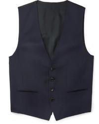 Chaleco de vestir de lana azul marino de Hugo Boss