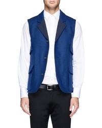 Chaleco de vestir de lana azul