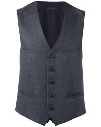 Chaleco de vestir de lana en gris oscuro