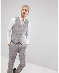 Chaleco de vestir de lana gris de ASOS DESIGN