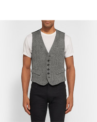 Chaleco de vestir de lana gris de Rag and Bone