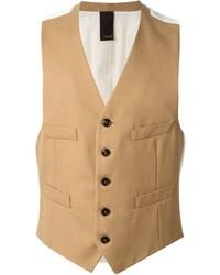 Chaleco de vestir de lana marrón claro de (+) People